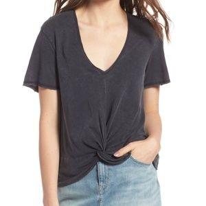Treasure & Bond V Neck Twist Front T Shirt